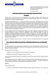 Ordenança municipal de clavegueram i aigües residuals