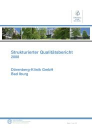 Strukturierter Qualitätsbericht neu - Dörenberg-Klinik