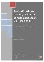 Traducció i edició a Catalunya durant la primera ... - Recercat