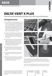 Verlegehinweise und Ausschreibungstexte DELTA®-VENT X PLUS