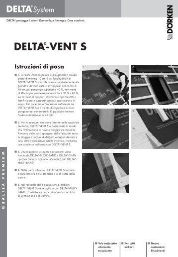 DELTA®-VENT S Istruzioni di posa