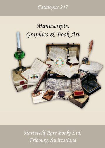 Catalogue 217: CHF 20. - Harteveld Rare Books Ltd.