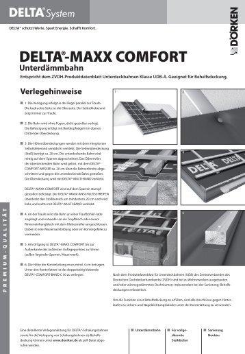 Verlegehinweise/Ausschreibung DELTA®-MAXX COMFORT ...
