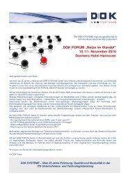 100928_DOK FORUM Einladung - DOK Systeme