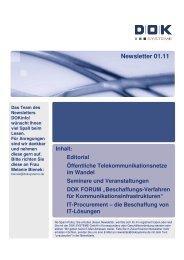 Newsletter 01.11 - DOK Systeme