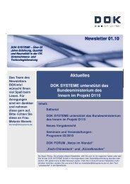 Newsletter 01.10 Aktuelles Newsletter 01.10 ... - DOK Systeme