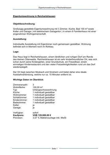 Eigentumswohnung Reichartshausen - Dollinger GmbH