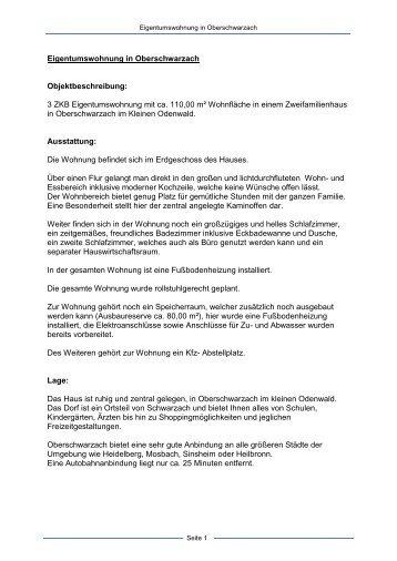 Eigentumswohnung 3 Zimmer, Küche, Bad in ... - Dollinger GmbH