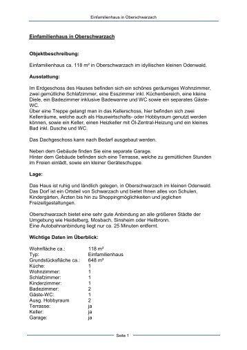 Einfamilienhaus in Oberschwarzach - Dollinger GmbH
