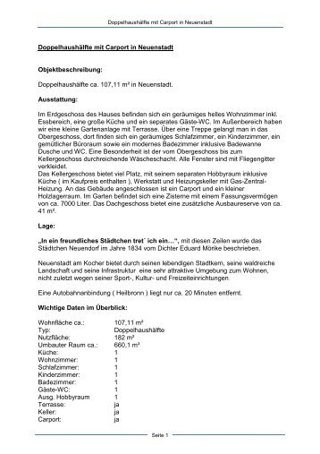 Exposé Neuenstadt - Dollinger GmbH