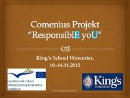 """Comenius Projekt """"ResponsiblE yoU"""" - Ökumenisches ..."""