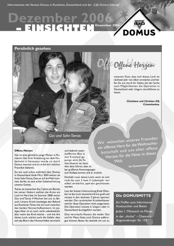 rundbrief winter 06.indd - DOMUS Rumänienhilfe eV