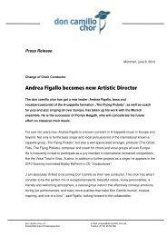 Andrea Figallo becomes new Artistic Director - don camillo chor