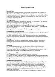 Besucherordnung std. 15.2.2012 - Domschatz