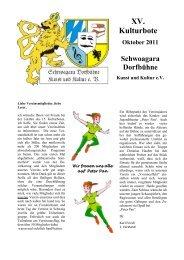 15. Kulturbote, September 2011 (alle Seiten) - Schwoagara ...