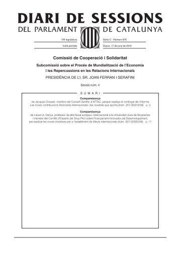 DSPC-C 876/08 - Parlament de Catalunya
