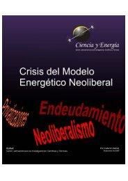 Crisis del Modelo Energético Neoliberal - Observatorio Petrolero Sur
