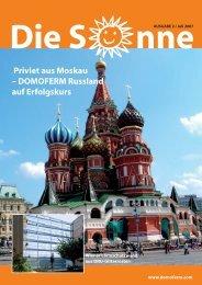 Priviet aus Moskau – DOMOFERM Russland auf Erfolgskurs