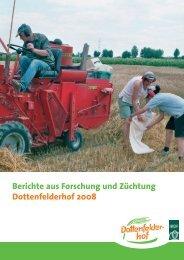 Forschungsbericht 2008 - Dottenfelder Hof