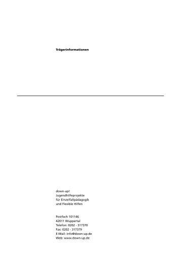 Trägerinformationen down-up! Jugendhilfeprojekte für ...