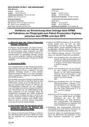 Leitfaden für die Teilnahme am Pilotprojekt Patent ... - DPMA