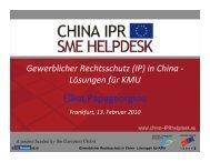 Gewerblicher Rechtsschutz (IP) In China – Lösungen Für ... - DPMA