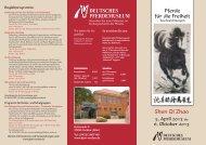 Ausstellungsflyer - Deutsches Pferdemuseum