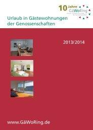 GäWoRing-Katalog 2013 - 2014 - Arnsberger ...
