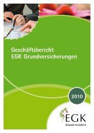 Spartenerfolgsrechnung 2010 der Obligatorischen - EGK ...
