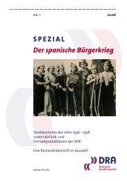 Spanischer Bürgerkrieg - Deutsches Rundfunkarchiv