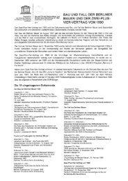 UNESCO-Information über die Dokumente zum Bau und Fall der ...