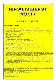 Aufnahmen - Deutsches Rundfunkarchiv