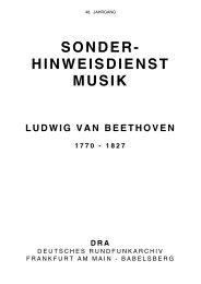 hinweisdienst musik ludwig van beethoven 1770 - Deutsches ...