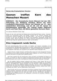 Kritik - Dramatischer Verein Biberach
