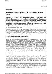 SZ-Kritik 02.01.07 - Dramatischer Verein Biberach
