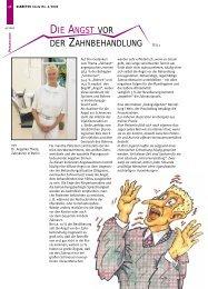 Die Angst vor der Zahnbehandlung - Dr. Angelika Thiele