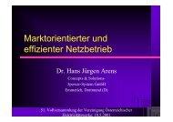 Marktorientierter und effizienter Netzbetrieb