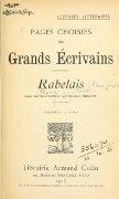 Rabelais. Avec une introd. par Edmond Huguet - Page 7