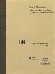 Cort i Mecenatge - Biblioteca de Catalunya