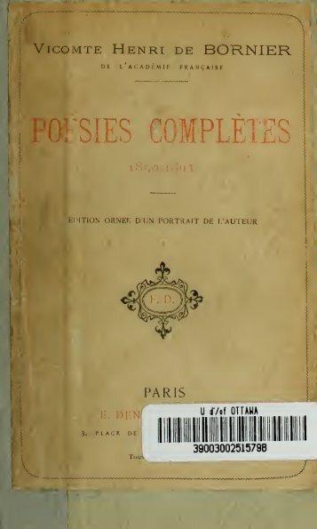 Poésies complètes (1850-1893)
