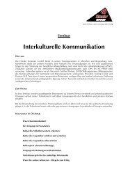 Seminar Interkulturelle Kommunikation - Drexler Seminare GmbH
