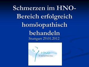 Homöopathie in der Vertragsarztpraxis - Dr. Karl-Heinz Friese HNO ...