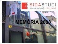 Memòria 2008 - Sida Studi