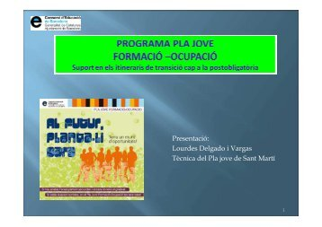 PLA JOVE FORMACIÓ -OCUPACIÓ-Lourdes Delgado - Surt
