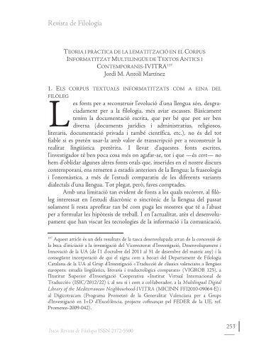 Revista de Filologia - RUA