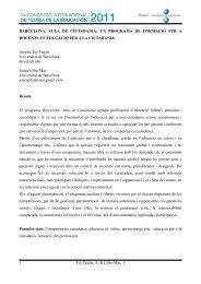 BARCELONA, AULA DE CIUTADANIA - XII Congreso Internacional ...