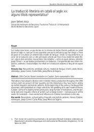 La traducció literària en català al segle XX: alguns títols ... - Raco