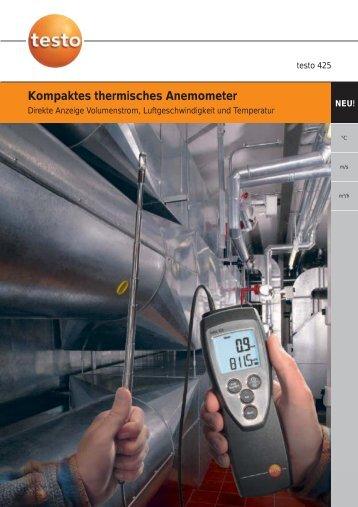 Kompaktes thermisches Anemometer - Testo AG