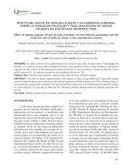 Efecto del aceite de soya y la condición - Publicaciones