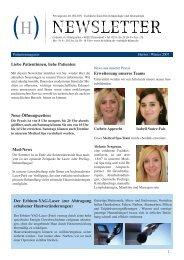 Newsletter Winter/2007 - Privatpraxis Dr. Hilton